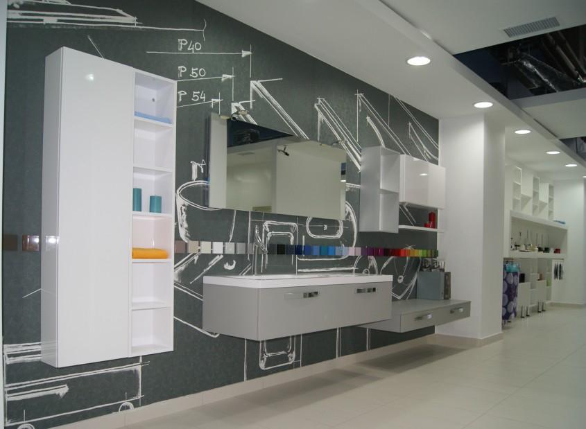 Mobilier de baie - In Showroom Laguna - Zone amenajate in functie de utilizare a produselor