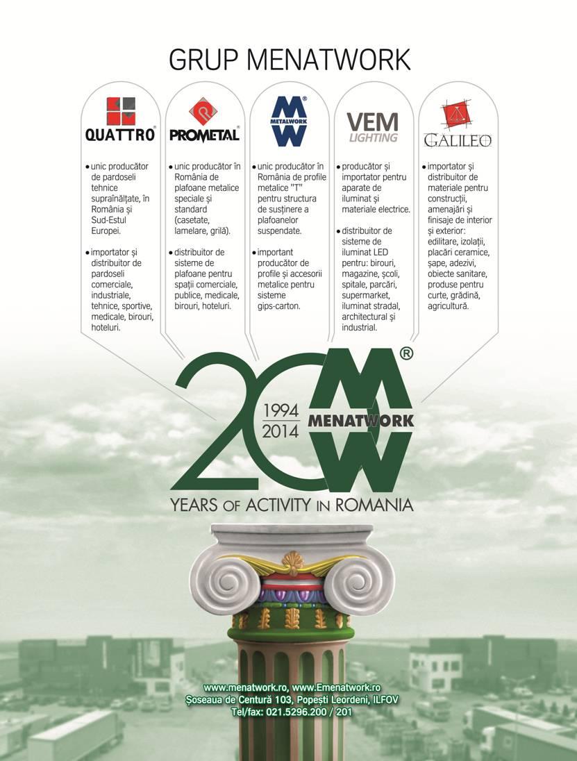 macheta Menatwork 20ani - Afacerile firmelor membre ale grupului