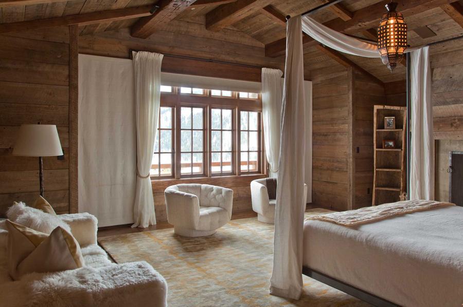 O cabana rustica in care s-au inserat niste detalii eclectice - Dormitor cabana