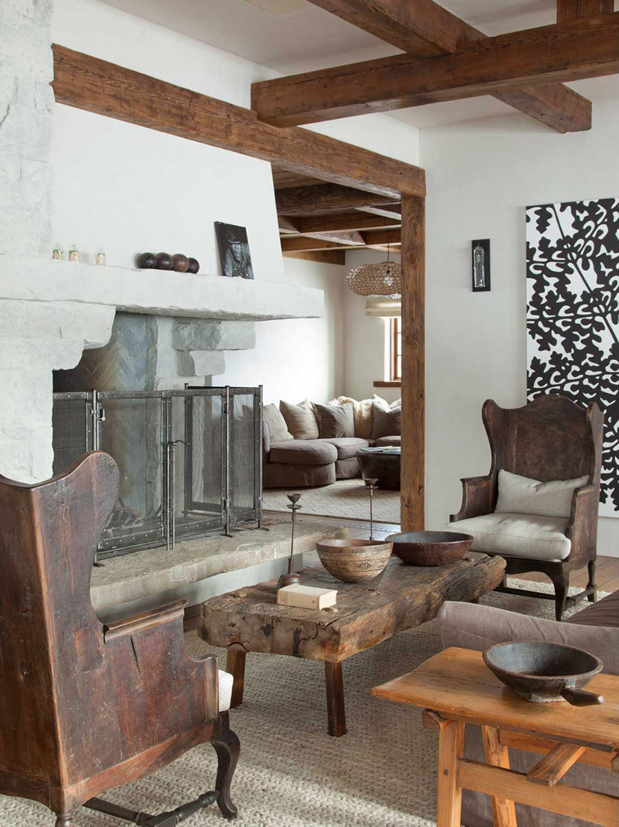 O cabana rustica in care s-au inserat niste detalii eclectice  - Cabana din Montana