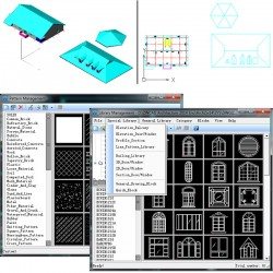 Biblioteca de simboluri, bogata si personalizata - ZWCAD Architecture