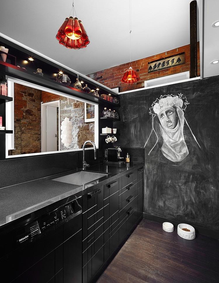 Cum sa ne folosim de arta pentru a amenaja un apartament - Bucatarie