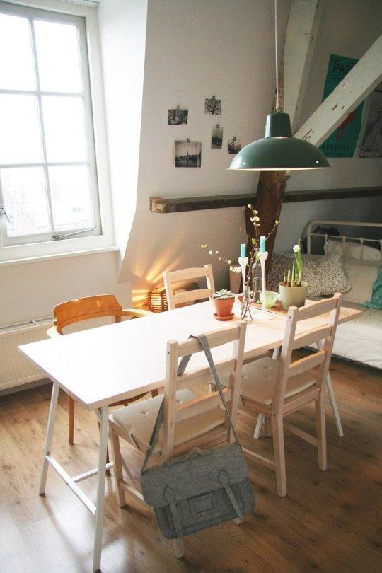 Exemplu de loc de luat masa in spatii mici - Exemple de locuri de luat masa