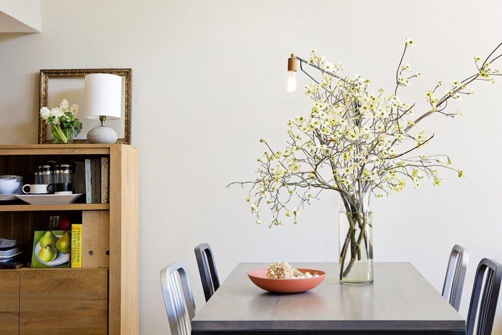 Un loft modern in San Francisco  - Ghivecele cu plante