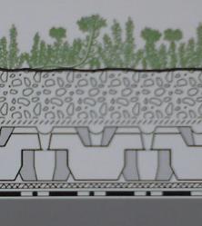 Sistemul este compus din strat de protecție a hidroizolației si Floraset - Cel mai usor acoperis