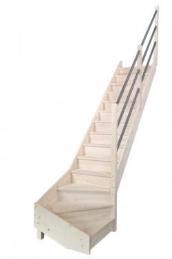 Scara pe structura din lemn Jura - Gama de scari TRADITIONALE