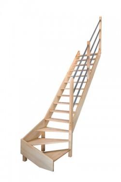 Scara pe structura din lemn Savoie - Gama de scari TRADITIONALE