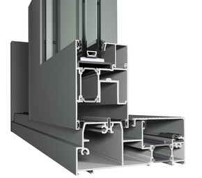 Profile din aluminiu pentru usi glisante CP 155 - Profile din aluminiu pentru usi glisante CP 155