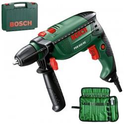 Masina de gaurit cu percutie 650 W + 39 Accesorii Bosch Verde PSB 650 RE - Masini de gaurit
