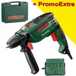 Masina de gaurit cu percutie 750 W + 19 accesorii + Geanta Bosch Verde PSB 750 RCE - Masini de gaurit