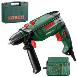 Masina de gaurit cu percutie 650 W Bosch Verde PSB 650 RE + 19 ACCESORII - Masini de gaurit
