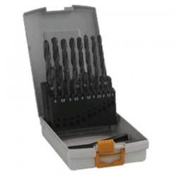 Caseta 19 burghie metal HSS-R 1-10 mm - Masini de gaurit
