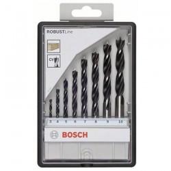 BOSCH Professional Set 8 burghie lemn Robust Line - Masini de gaurit