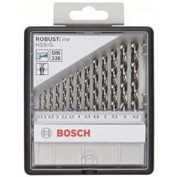 BOSCH Professional CASETA 13 BURGHIE METAL HSS-G ROBUST LINE - Masini de gaurit