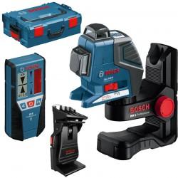 Nivela laser cu linii + BM1 Suport + LR2 Receptor + L-BOXX BOSCH Professional GLL 2-80 P + BM 1 + LR 2 + L-BOXX - Nivele cu laser