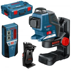 Nivela laser cu linii + BM1 Suport + LR2 receptor + L-BOXX BOSCH Professional GLL 3-80 P + BM 1 + LR2 + L-BOXX - Nivele cu laser