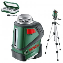 Nivela laser cu linii + Stativ constructii Bosch Verde PLL 360 + STATIV - Nivele cu laser