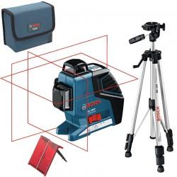 Professional Nivela laser cu linii + Stativ constructii BOSCH Professional GLL 3-80 P + BS 150 - Nivele cu laser