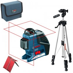 Professional Nivela laser cu linii + Stativ constructii BOSCH Professional GLL 2-80 P + BS 150 - Nivele cu laser