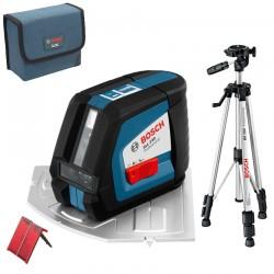 Professional Nivela laser cu linii + Stativ constructii BOSCH Professional GLL 2-50 + BS 150 - Nivele cu laser