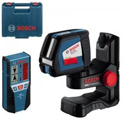 Professional Nivela laser cu linii + Suport perete + Receptor BOSCH Professional GLL 2-50 + BM 1 + LR 2 - Nivele cu laser