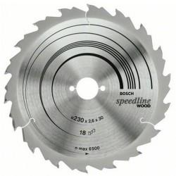 DISC SPEEDLINE WOOD 230X30X18T (GROSIER) - Ferastraie circulare