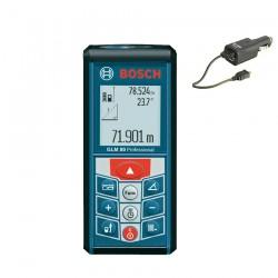 Professional Telemetru cu laser 80 M BOSCH Professional GLM 80 + Incarcator auto - Telemetre cu laser