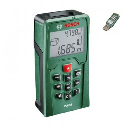 Telemetru cu laser Bosch Verde PLR 25 + USB STICK - Telemetre cu laser