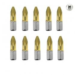 10 BITI PH 2 TIN 25 mm - Masini de insurubat