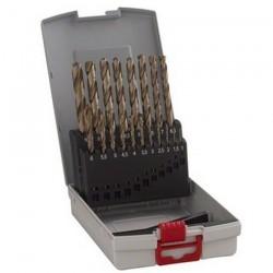 Caseta 19 burghie metal HSS-CO 1-10 mm - Masini de insurubat