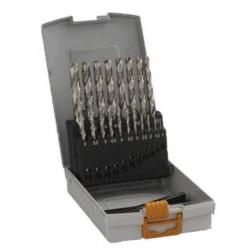 Caseta 19 burghie metal HSS-G 1-10 mm - Masini de insurubat