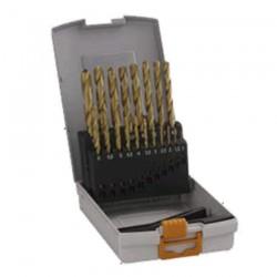 Caseta 19 burghie metal HSS-TIN 1-10 mm - Masini de insurubat