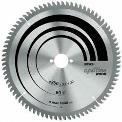 DISC OPTILINE WOOD 254X30X80T (FOARTE FIN) - Ferastraie stationare
