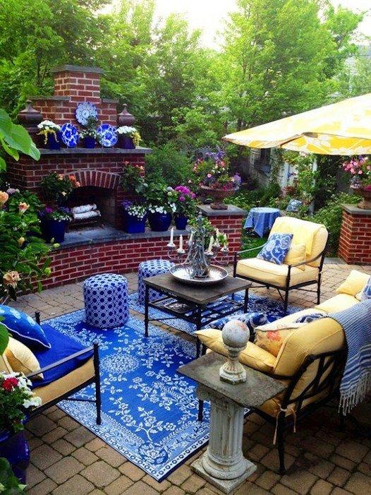 Terasa din gradina, locul amenajat pentru suflet - Terase colorate