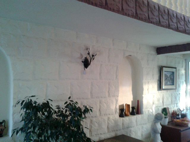 Placare cu piatra perete interior - CONSTRUCTII MILLENIUM 3 - Placare cu piatra perete interior -