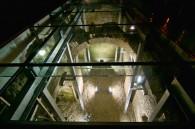 Pardoseala sticla deasupra ruinelor hanului Serban Voda - Pardoseala sticla deasupra ruinelor hanului Serban Voda
