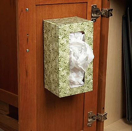 foto: www.familyhandyman.com - Un suport ieftin si ingenios: o cutie de carton