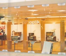 Pereti mobili transparenti, din cristal, cu glisare pe orizontala KORNER - Peretii mobili glisanti pe orizontala, transparenti