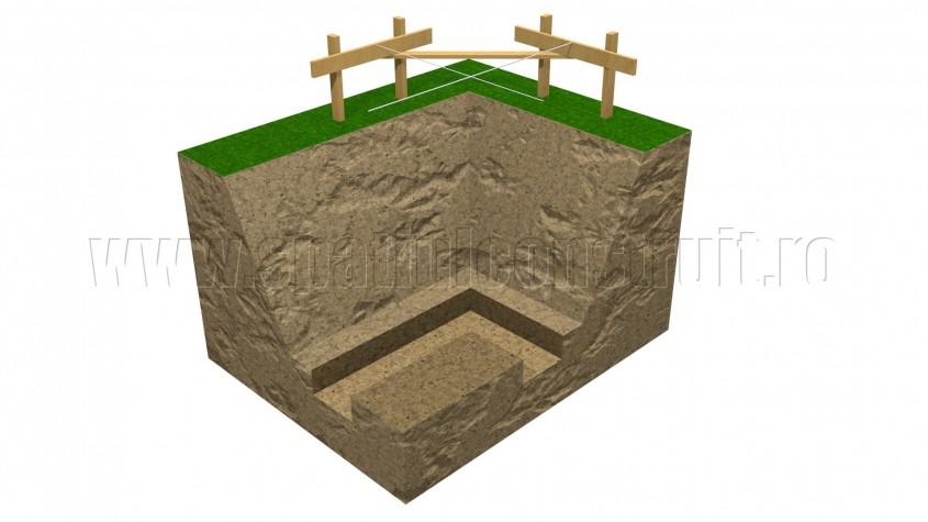Sapatura pentru fundatie - Sapatura pentru fundatie (sectiune)