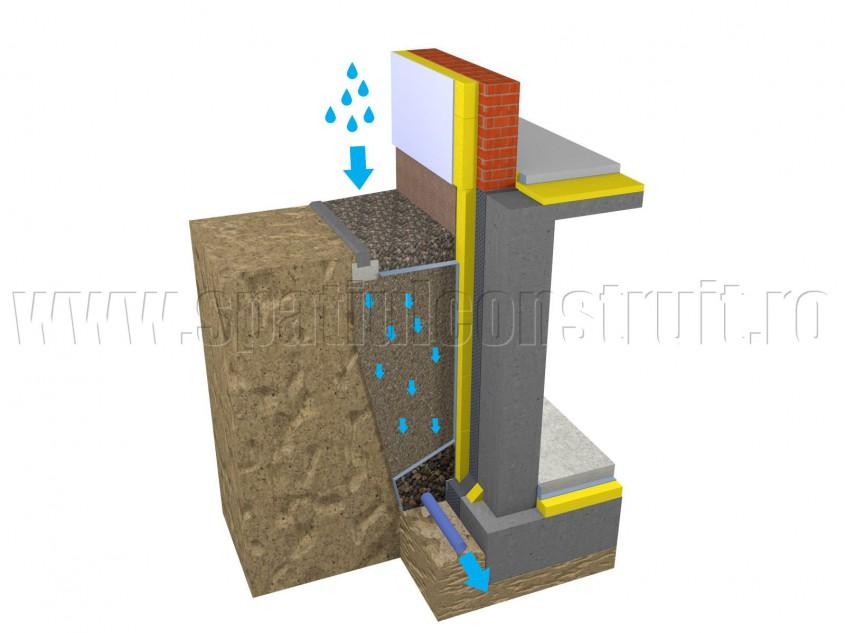 Scurgerea apelor pluviale - Solutii pentru drenarea apei din panza freatica si scurgerea apelor pluviale