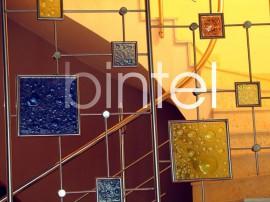 Balustrada din inox cu sticla ornamentala - Balustrade