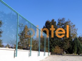Balustrada de sticla cu cadru de inox vopsit special - Balustrade