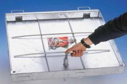 Capac vizitare rezistent la 125 Kn, din otel galvanizat BV-GDZ Automatic STEEL - Capace de vizitare din otel galvanizat