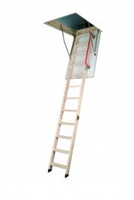 Scara modulara din lemn alcatuita din 3 parti pliabile - LWZ - Scari de acces la pod modulare din lemn
