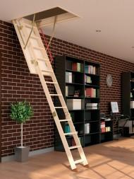 Scara modulara din lemn de pin - LWK Komfort - Scari de acces la pod modulare din lemn