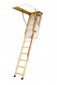 Scara modulara din lemn alcatuita din 3 parti pliabile - LWL Lux - Scari de acces la pod modulare din lemn