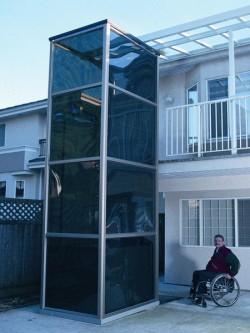 Elevator pentru persoane cu dizabilitati OPAL - Instalare in structura inchisa - Elevator pentru persoane cu dizabilitati OPAL