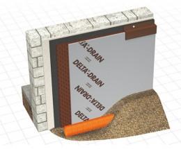 DELTA-DRAIN - Membrana de protectie si drenaj - Membrane