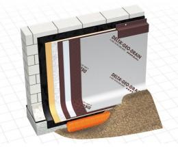 DELTA-GEO-DRAIN QUATTRO - Membrana de protectie si drenare - Membrane