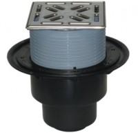 Sifon pardoseala cu iesire verticala + gratar - Sifoane de scurgere pentru pardoseala si accesorii